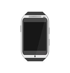 Realistic white smartwatch vector