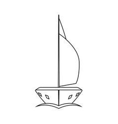 Sail yacht icon vector