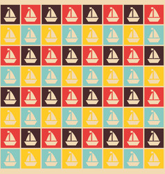 seamless nautical pattern with ships vector image