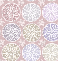 Seamless pattern Vintage lace design Pastel purple vector image