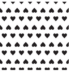 Seamless pattern with small hearts on white vector