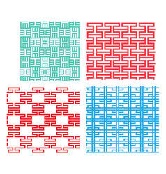 Seamless tracery pattern in modern korean style vector