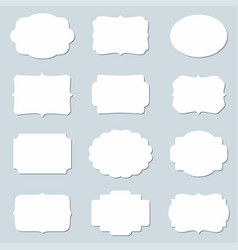 set of blank frames and empty tags vector image