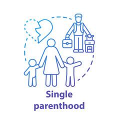 Single parenthood concept icon marital disputes vector