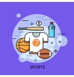 Sports equipment for player sporting goods vector
