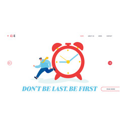 Time resource website landing page businessman vector
