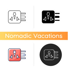 Travel adapter icon vector