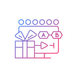 Tv shows streaming gradient linear icon vector