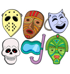 Various masks collection 1 vector