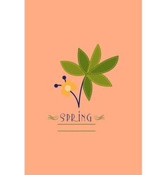 With spring flower and vector