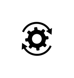 workflow gears with arrows icon vector image