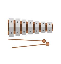 Xylophone musical sound instrument vector