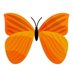 Yellow butterfly icon cartoon style vector