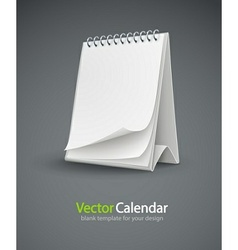 calendar template with blank vector image