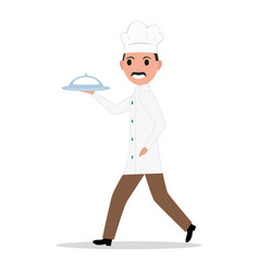 cartoon funny chef cook man vector image