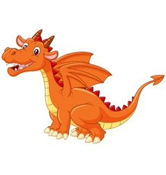 Cute dragon on white background vector image vector image
