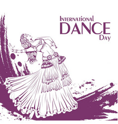 dance day tribal belly dance vector image vector image