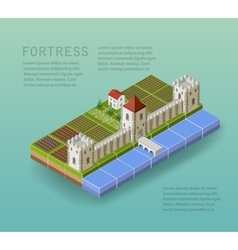 The fortress vector image