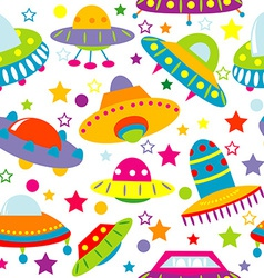 Cartoon space ship seamless vector image vector image