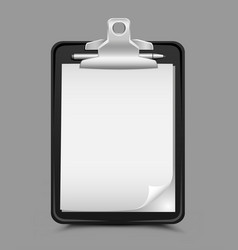 clipboard gray background vector image vector image