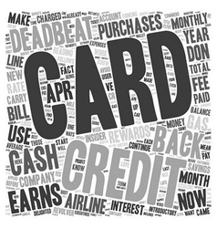 I m A Credit Card Deadbeat You Can Be One Too text vector image