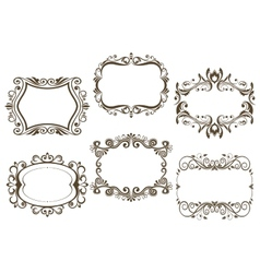 Retro vignettes and frames set vector image vector image