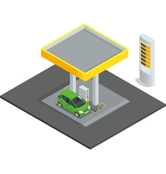 Small gas station Gas petroleum petrol refill vector image vector image