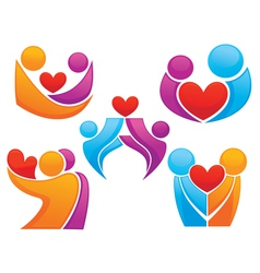 bright people in love vector image vector image
