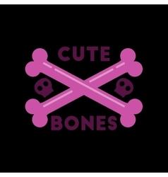 flat icon on stylish background cross bones vector image vector image