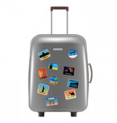 object suitcase vector image vector image