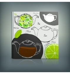 Tea Menu 02 A vector image