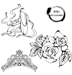 dance line ballet accessories vector image