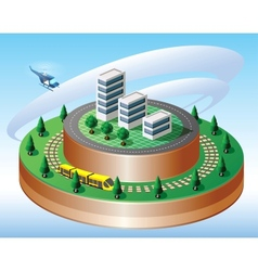 Isometric view vector image vector image