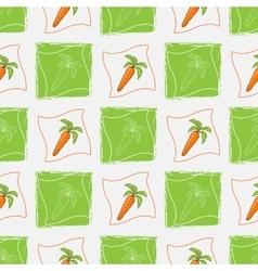 Pattern with carrot vector image