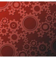 rusty cogwheels vector image vector image