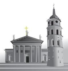 Vilnius cathedral basilica vector