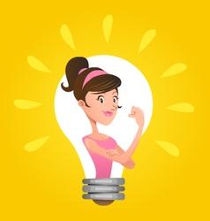 We Can Do It Woman Emancipation Idea vector image vector image