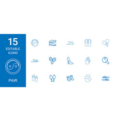 15 pair icons vector