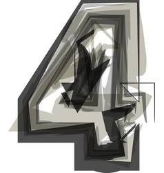 Abstract number 4 vector