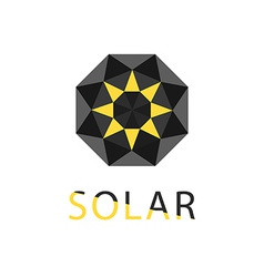 Abstract symbol of sun solar technology logo vector image