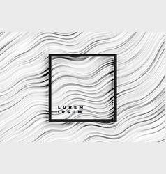 abstract wavy black and white stripes background vector image