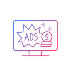 Ad-supported subscription plan gradient linear vector