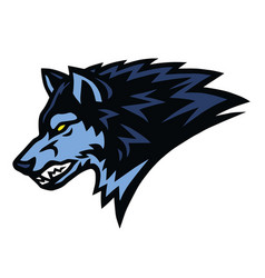Angry wolf beast logo sports mascot design vector