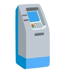 ATM bank cash machine on white background isolated vector