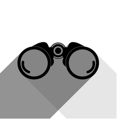 binocular sign black icon vector image