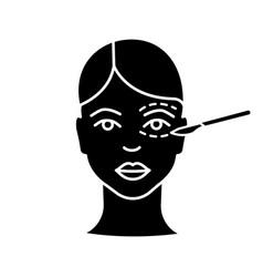 blepharoplasty glyph icon vector image