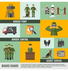 Border Guard Icon Flat vector