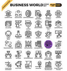 Business world icons vector