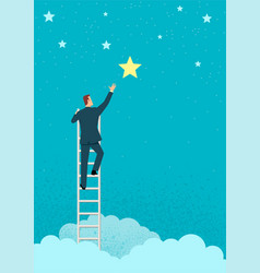 businessman reach out for stars vector image