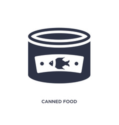 Canned food icon on white background simple vector